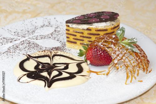 Fotografie, Obraz  alta pasticceria caramello dello chef