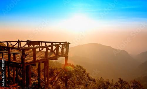 Fotografie, Tablou  Mon Sone view point at Mount Ang Khang, Province Chang Mai, Thai