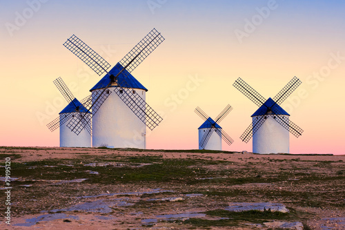 windmill in Campo de Criptana, La Mancha, Spain Canvas Print