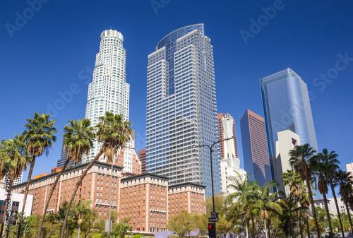 Staande foto Los Angeles Los Angeles Pershing Square buildings
