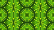 Abstract Loop Motion Background, Green Kaleidoscope