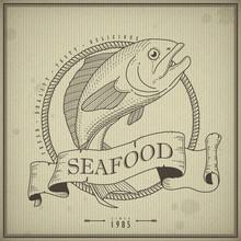 Retro Seafood Menu Design