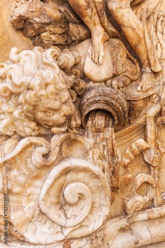 Photo Detail an einem historischen Palast in Valencia, Spanien