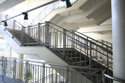 Foto op Canvas Trappen Stairs, stairs in a modern building