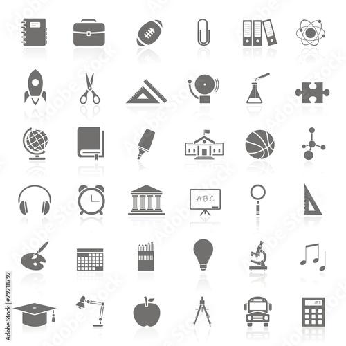 36 Iconos sobre educación FB reflejo Wallpaper Mural