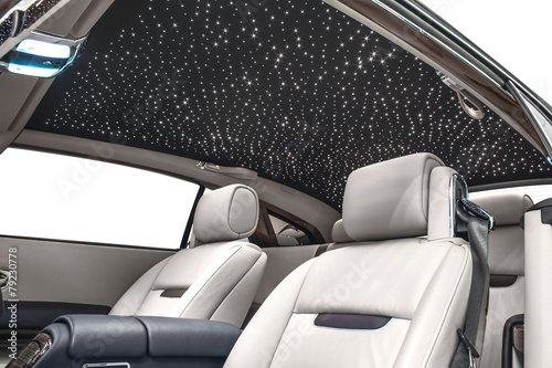 Car Interior Vip With Stars On Rooftop Buy This Stock Photo And