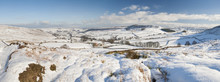 English Winter Countryside Snowy Landscape