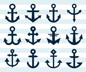 Naklejka Marynistyczny Anchor Icons