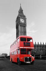 Panel Szklany Podświetlane Londyn Londonbus vor Big Ben
