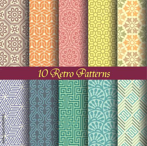 Poster Kunstmatig seamlessly retro patterns