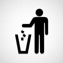 Trash Bin Icon Great For Any U...