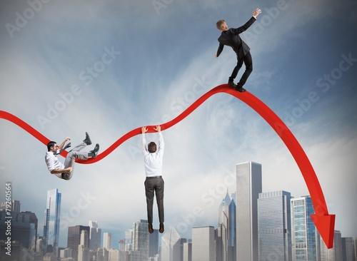 Fototapeta  Businessmen falling down