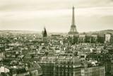 Widok na Paryż i Wieżę Eiffla z góry - 79260738
