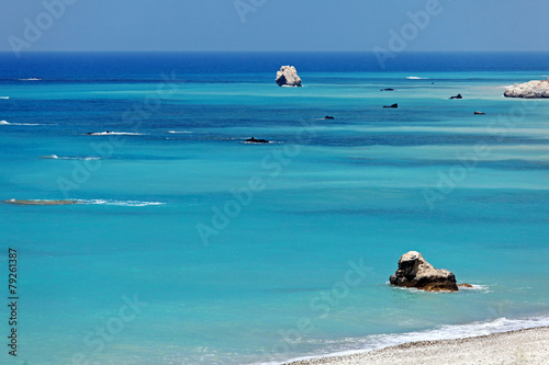 Foto op Plexiglas Cyprus Rocks of Aphrodite, Paphos, Cyprus