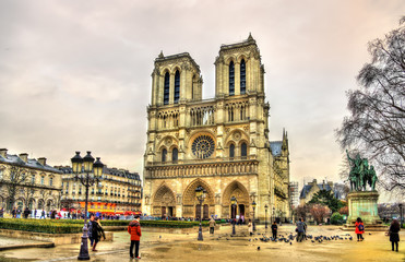Parvis Notre-Dame - Jean-Paul-II square in Paris, France