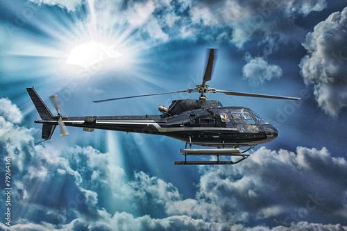 plakat Helikopter na zwiedzanie