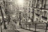 Fototapeta Paryż - The historic district of Montmartre in Paris,France