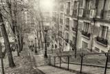 Fototapeta Fototapety Paryż - The historic district of Montmartre in Paris,France