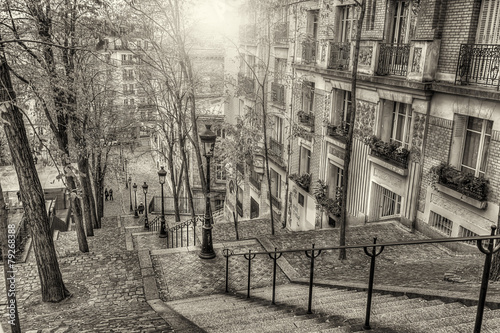 Foto op Canvas Parijs The historic district of Montmartre in Paris,France