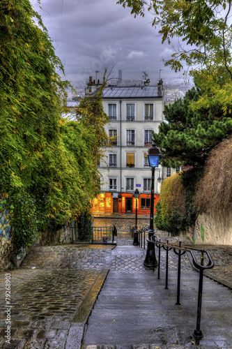 The historic district of Montmartre in Paris,France - 79268903