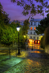 FototapetaThe historic district of Montmartre in Paris,France