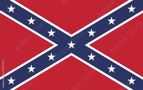 Confederate Rebel Flag Canvas Print