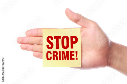 Stop Crime Poster
