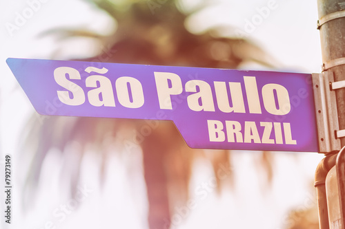 Sao Paulo Brazil Street Sign