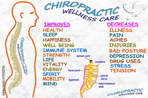 chiropractic wellness care therapy related words Canvas Print