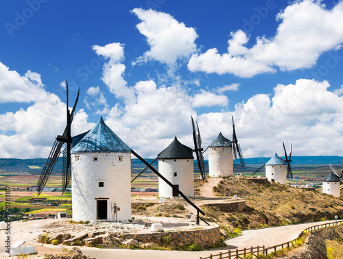 Fotoposter Molens Group of windmills