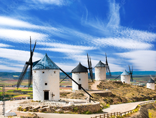 Poster Molens Group of windmills