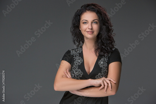 Valokuva  Portrait of beautiful dark-haired young woman