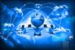 Leinwandbild Motiv Cloud computing concept, global computer network