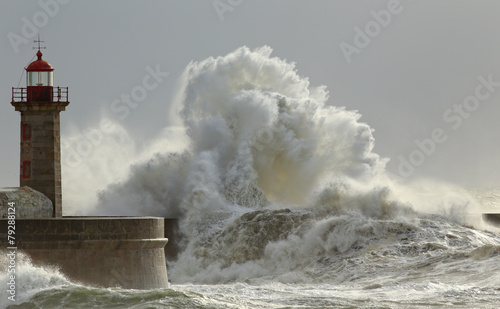 Photo sur Aluminium Eau Sunny storm