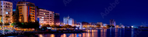 Foto op Aluminium Cyprus A panoramic view of Limassol cityscape at night. Cyprus