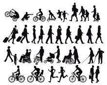 Menschen In Bewegung Und Aktivitäten