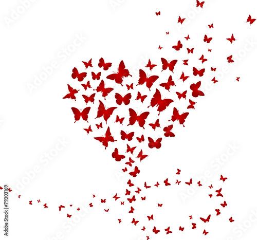 Schmetterlinge Vektor Herz #79303169