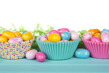 Easter Candy In Cup Cake Wrappers