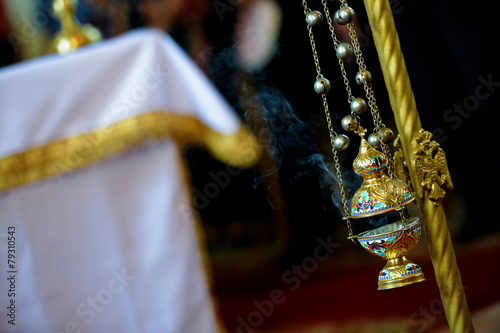 Censer hung in the church Fototapeta