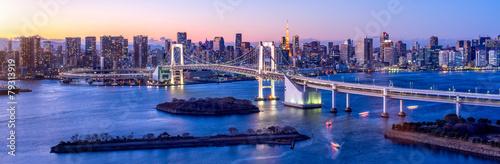 Plakat Tęczowy most Tokio Odaiba