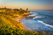 View Of Cliffs Along The Pacific Ocean, From Corona Del Mar, Cal