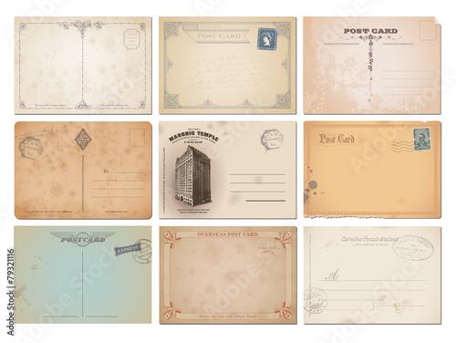 Fototapeta collection of nine vector postcard backgrounds obraz