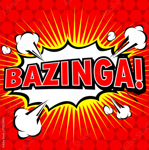 Bazinga! Comic Speech Bubble, Cartoon Wallpaper Mural