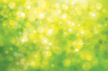 Vector green sunshine background.