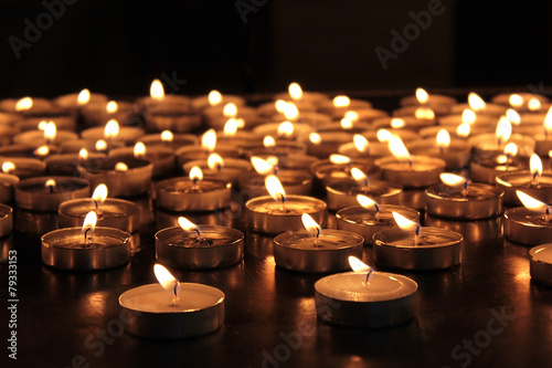 Fotografie, Obraz  burning memorial candles