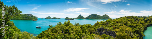 Panorama Koh Samui Ang Thong Islands national park Fototapete