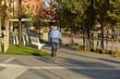 circulando en bicicleta por la ciudad