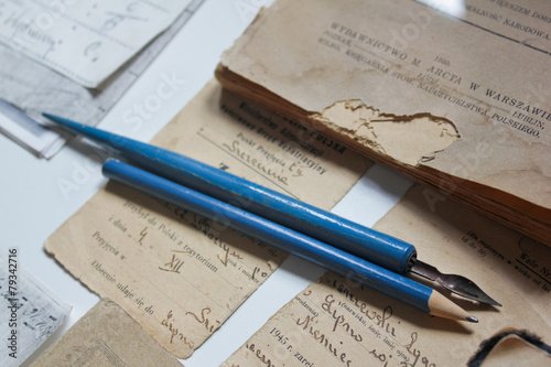 Old documents and writing i...