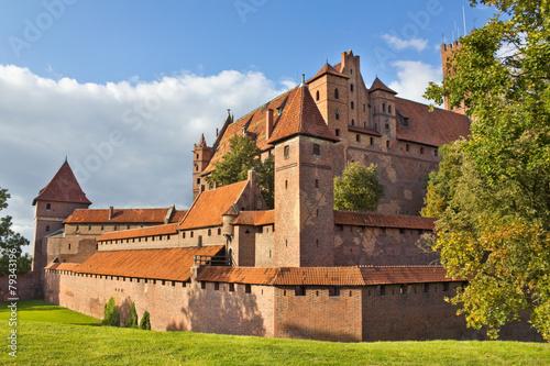 fototapeta na szkło Gotycki zamek w Malborku