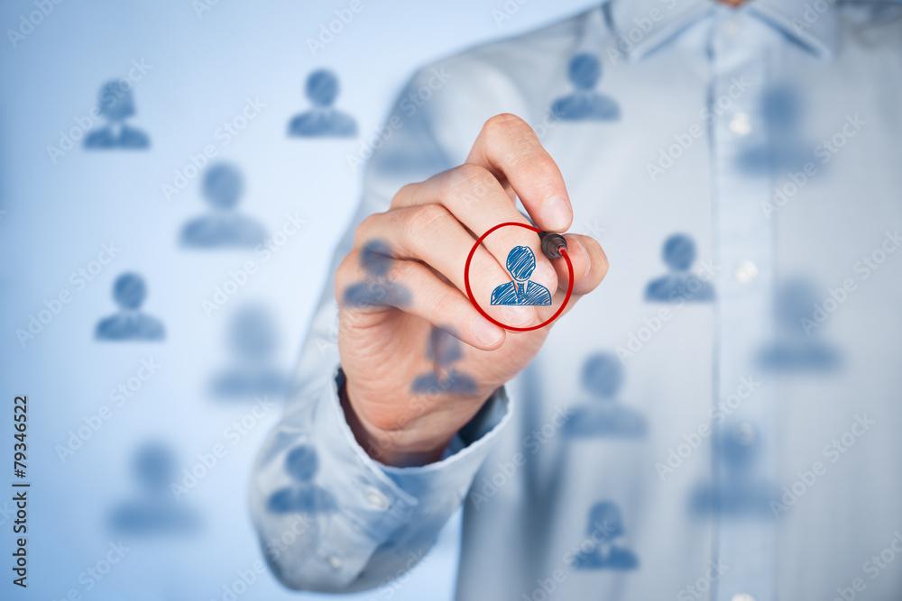 Fototapety, obrazy: Marketing segmentation and leader